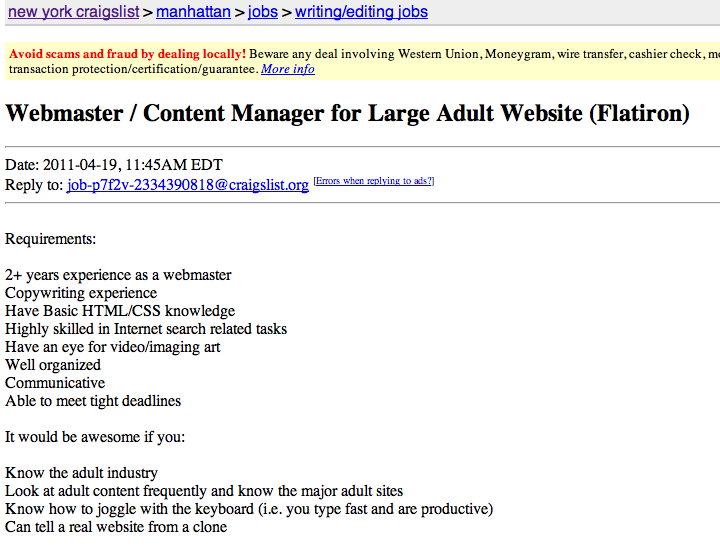 Webmaster+job+posting